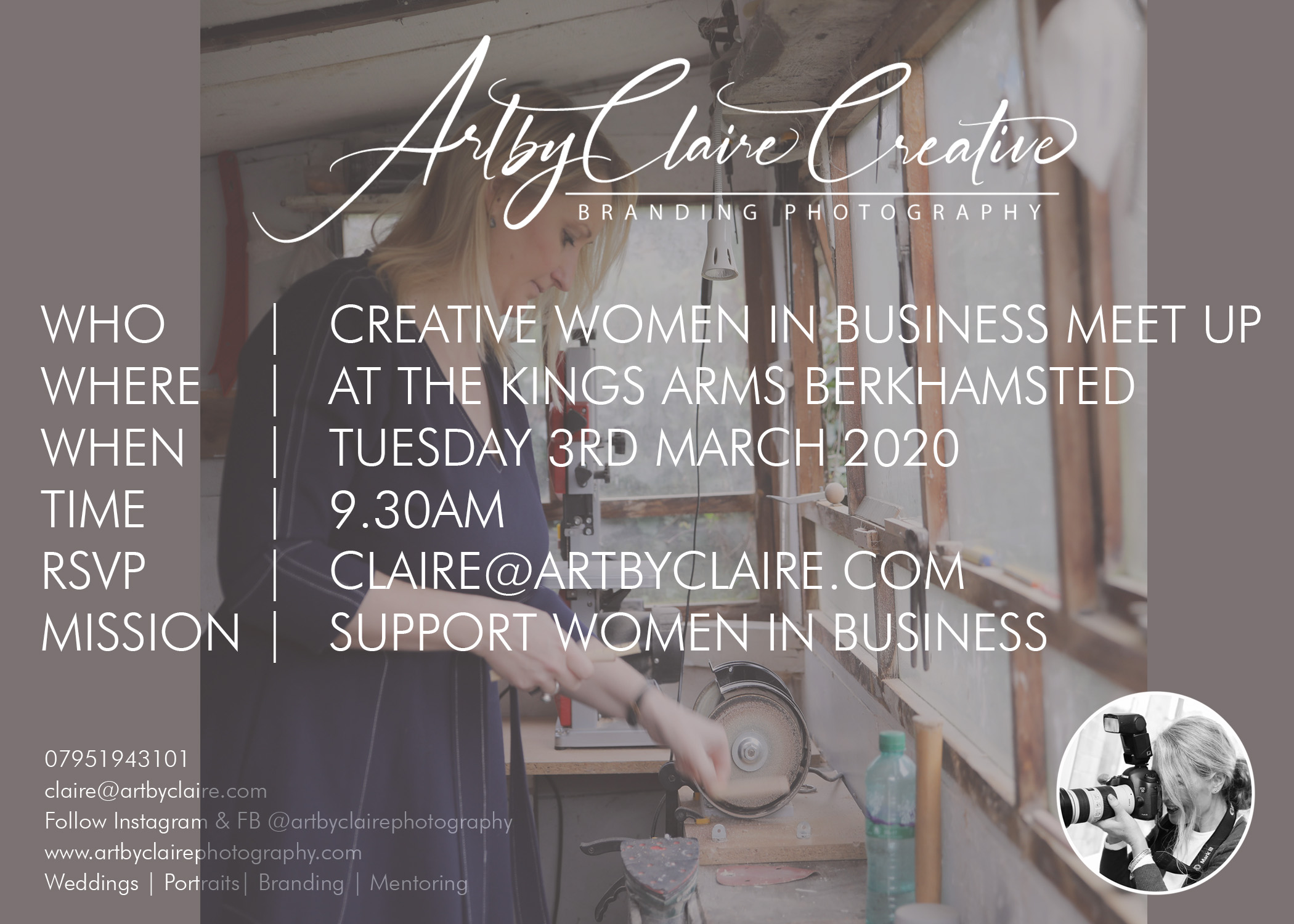 ArtbyClaire Creative Women in business meet up, The Kings Arms Berkhamsted